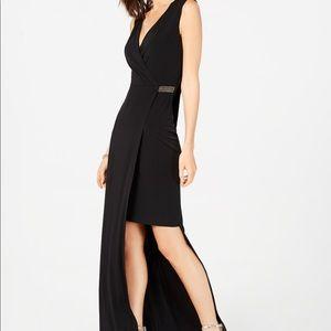 Connected Apparel Asymmetrical Maxi Dress